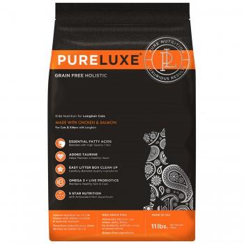 PureLuxe / Пурелюкс для длинношерстных кошек с курицей и лососем, 5 кг