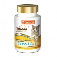Unitabs / Юнитабс SterilCat с Q10 Витамины д/кастрированных котов и стерилизованных кошек 120 таб