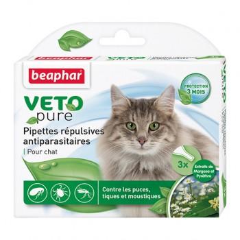 Beaphar / Беафар Капли «Био» от блох и клещей д/кошек, 3 пипетки