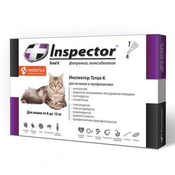 Inspector / Инспектор Quadro инсекто-акарицидные капли от всех паразитов для кошек (8-15 кг)