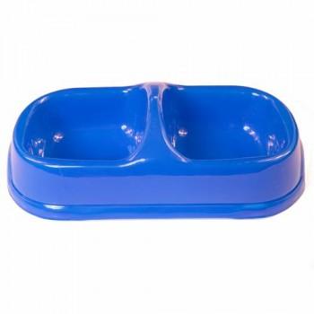 Bobo Миска двойная, 29.5x15x8см, синий