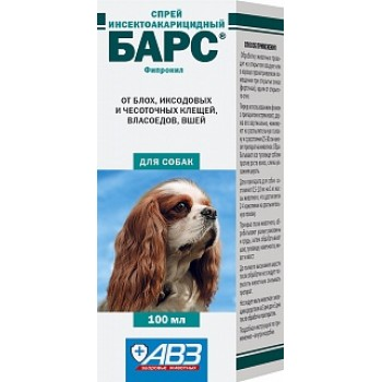 АВЗ БАРС спрей для собак инсектоакарицидный, 100 мл