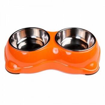 Bobo Миска двойная, 26.5x15.5x6см, 150 мл, оранжевый