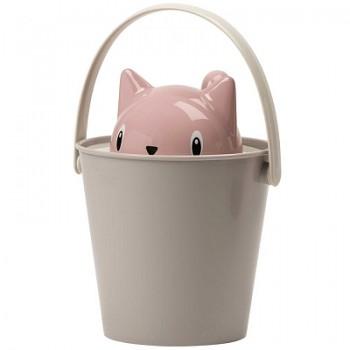 """United Pets ведро для сухого корма """"Cat-Crick"""" 7,5 л, серо-розовое, для кошек"""