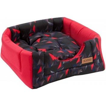 Katsu / Катсу HOPI Геометрия 40х40х35 см домик-трансформер для животных красный