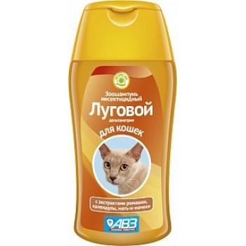 АВЗ ЛУГОВОЙ шампунь инсектицидный для кошек с экстрактами лекарственных трав, 180 мл
