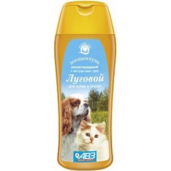 АВЗ ЛУГОВОЙ шампунь для собак и для кошек инсектицидный с экстрактами лекарственных трав и ланолином, 270 мл