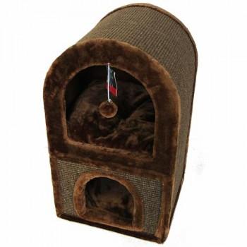 Pet Choice / Пет Чойс Когтеточка-домик 40х40х70, коричневый