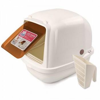 Catidea Туалет-домик 52х38х42см совок, дверь, кремовый