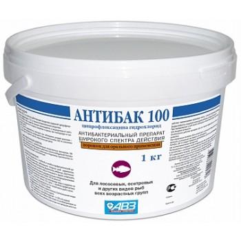 АВЗ АНТИБАК 100 для декоративных рыб препарат антибактериальный иммунизирующий ведро, 1 кг