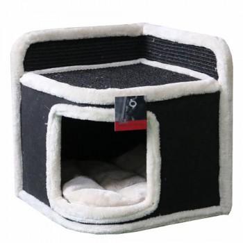 Pet Choice / Пет Чойс Когтеточка-домик 35х35х38, черный