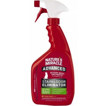 Nature's Miracle Уничтожитель пятен и запахов с усиленной формулой для кошек Лимон, спрей NM ADV Cat S&O Elimin Spray Lemon, 946 мл