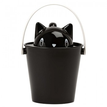 """United Pets ведро для сухого корма """"Cat-Crick"""" 7,5 л, черное, для кошек"""