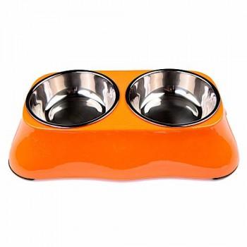 Bobo Миска двойная, 27x15x6см, 150 мл, оранжевый