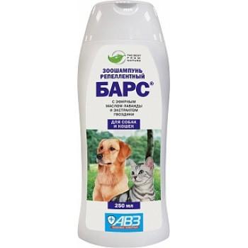 АВЗ БАРС шампунь для собак и кошек репеллентный с эфирными маслами, 250 мл