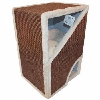 Pet Choice / Пет Чойс Когтеточка-домик 40х35х60, коричневый