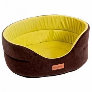 Katsu / Катсу SUEDINE 40х35х16 см лежак для животных искусственная замша коричнево-оливковый