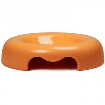 United Pets миска Kitty-Cat, 120мл, оранжевая