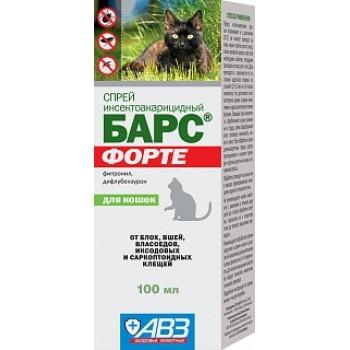 АВЗ БАРС ФОРТЕ спрей для кошек инсектоакарицидный, 100 мл