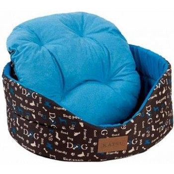 Katsu / Катсу YOHANKA SHINE DOGS 58х52х20 см размер 4 лежак для животных синий