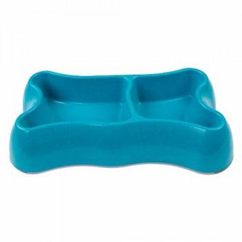 Bobo Миска двойная, 26.5x15x5см, 300+250 мл, голубой