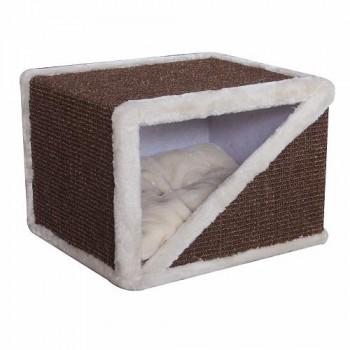 Pet Choice / Пет Чойс Когтеточка-домик 40х35х30, коричневый