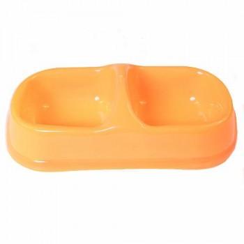 Bobo Миска двойная, 29.5x15x8см, оранжевый