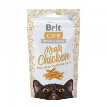 Brit / Брит Care лакомство д/кошек Meaty Chicken Курица, 50 гр
