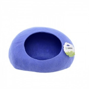 "ZooBaloo Домик ""Уютное гнездышко"" (шерсть, форма круг, синий) L: 40x40x20 см"