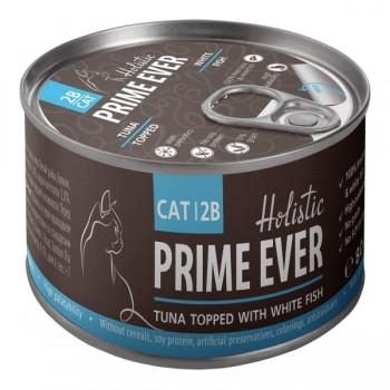 Prime Ever / Прайм Евер Конс. д/кошек 2B Тунец с белой рыбой в желе 80 гр