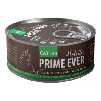 Prime Ever / Прайм Евер Конс. д/кошек 4B Цыпленок с овощами в желе 80 гр