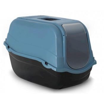 Beeztees / Бизтис 400531 Romeo Туалет-домик д/кошек из эко-пластика черно-голубой 57*39*41см