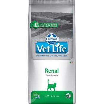 Farmina / Фармина Vet Life RENAL диета д/кошек при почечной недостаточности, вспомогательное средство в терапии сердечной недостаточности 10кг