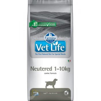 Farmina / Фармина Vet Life Neutered диета д/кастрированных или стерилизованных собак массой до 10 кг профилактика МКБ 10 кг
