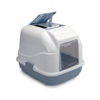 Imac / Имак туалет д/кошек закрытый EASY CAT, белый/пепельно-синий, 50х40х40 см