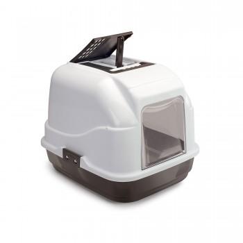 Imac / Имак туалет д/кошек закрытый EASY CAT, белый/коричневый, 50х40х40 см
