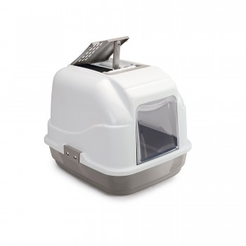 Imac / Имак туалет д/кошек закрытый EASY CAT, бежево-серый, 50х40х40 см
