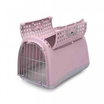 Imac / Имак переноска д/животных LINUS CABRIO, пепельно-розовый, 50х32х34,5 см