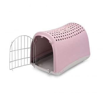 Imac / Имак переноска д/животных LINUS, пепельно-розовая, 50х32х34,5 см