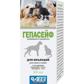 АВЗ ГЕПАСЕЙФ для кошек и собак для комплексного лечения заболеваний печени различной этиологии, 10 мл