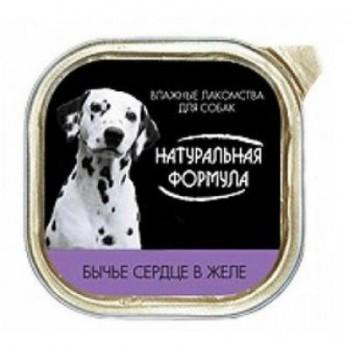 Натуральная формула кон.д/собак Бычье сердце в желе 300 гр