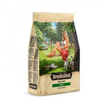 Brooksfield / Бруксфилд Puppy Сухой корм для щенков Говядина/рис 3 кг