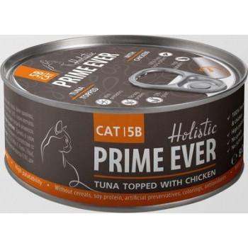 Prime Ever / Прайм Евер Конс. д/кошек 5B Тунец с цыпленком с желе 80 гр