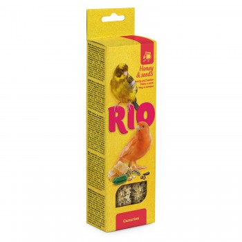 РИО Палочки для канареек с медом и полезными семенами, 2х40 гр