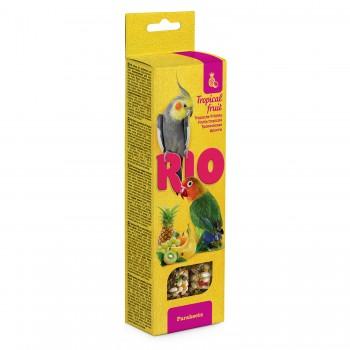 РИО Палочки для средних попугаев с тропическими фруктами, 2х75 гр