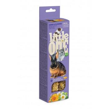 Little One Палочки для морских свинок, кроликов и шиншилл с травами и цветами, 2х55 гр