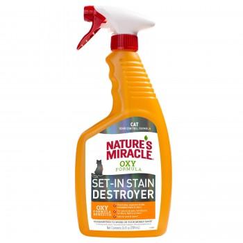 Nature's Miracle Уничтожитель пятен и запахов Окси-формула, для кошек NM Cat Oxy Formula Spray, 709 мл