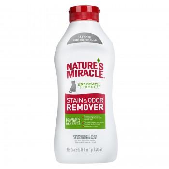 Nature's Miracle Универсальный уничтожитель пятен и запахов для кошек NM S&O REMOVER JFC POUR, 473 мл