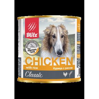 Blitz / Блитц Classic Кон. д/собак всех пород и возрастов Курица с Рисом, 400 гр