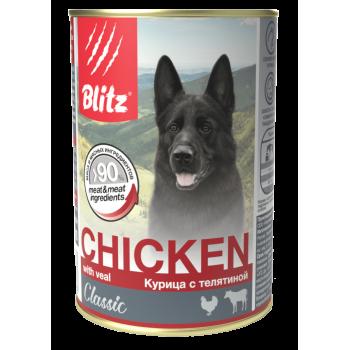 Blitz / Блитц Classic Кон. д/собак всех пород и возрастов Курица с Телятиной, 400 гр